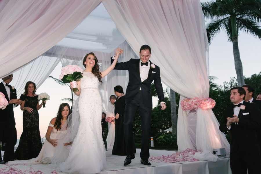 happy newlyweds at Ritz Carlton Key Biscayne