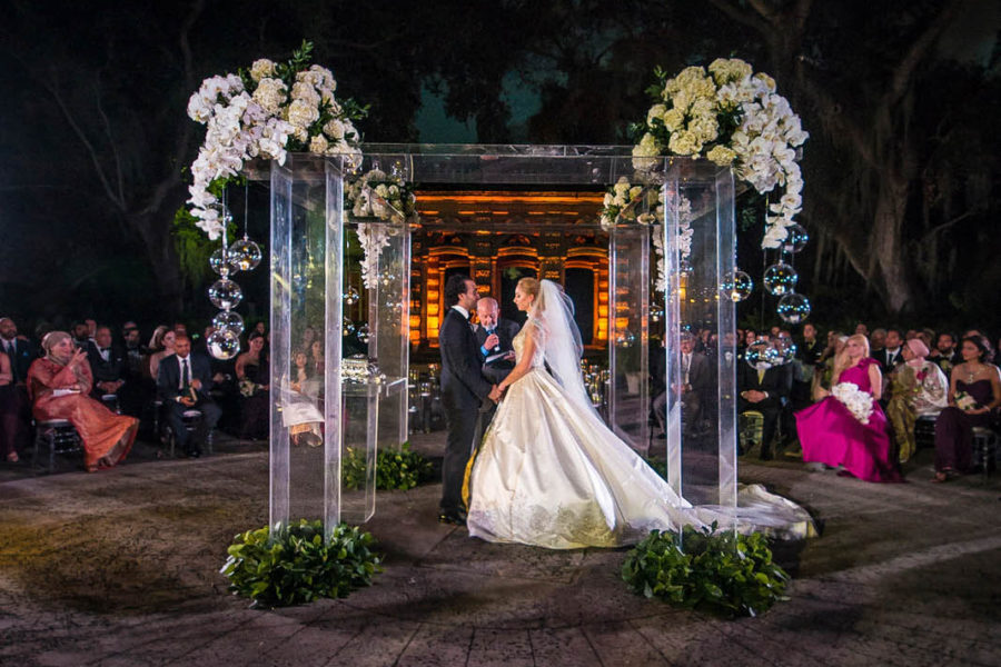 luxury wedding ceremony in Vizcaya