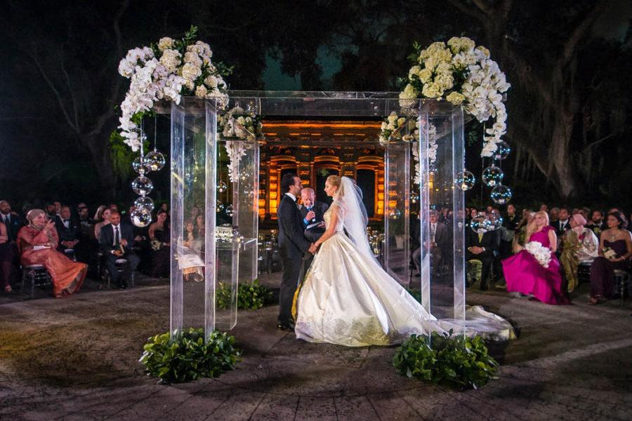 luxury wedding ceremony in Vizcaya