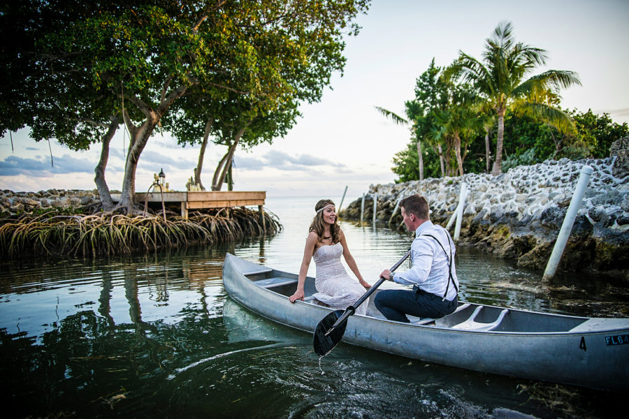 romantic miami wedding on a boat