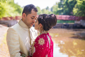 happy Indian newlyweds