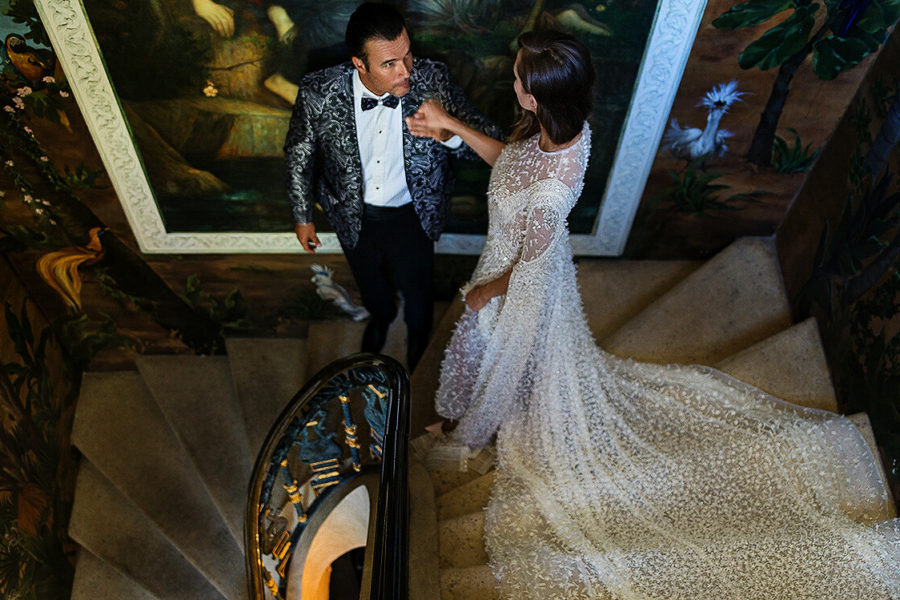 luxury wedding inspiration in Versace mansion
