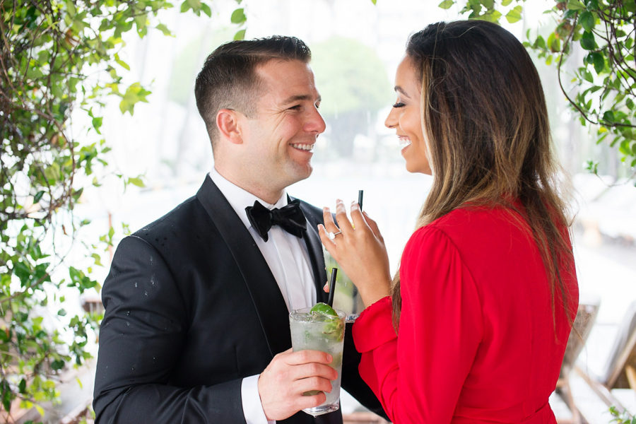 mojitos for engagement session