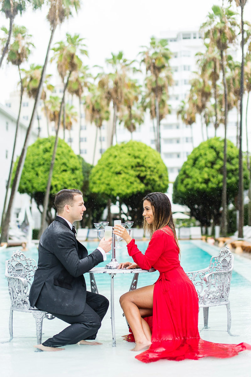 Delano Miami Beach engagement session