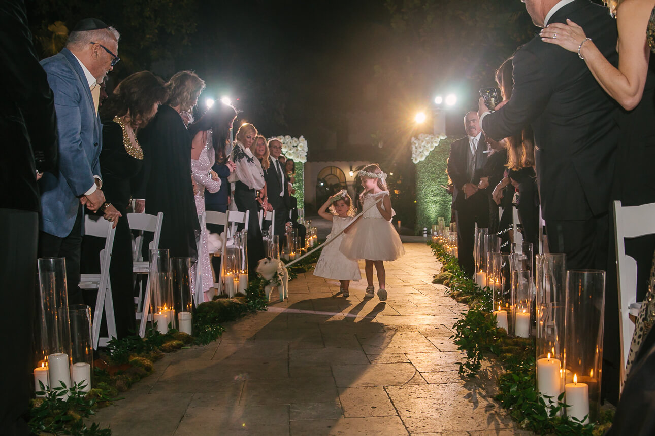 flower girls at Fisher Island Club Wedding