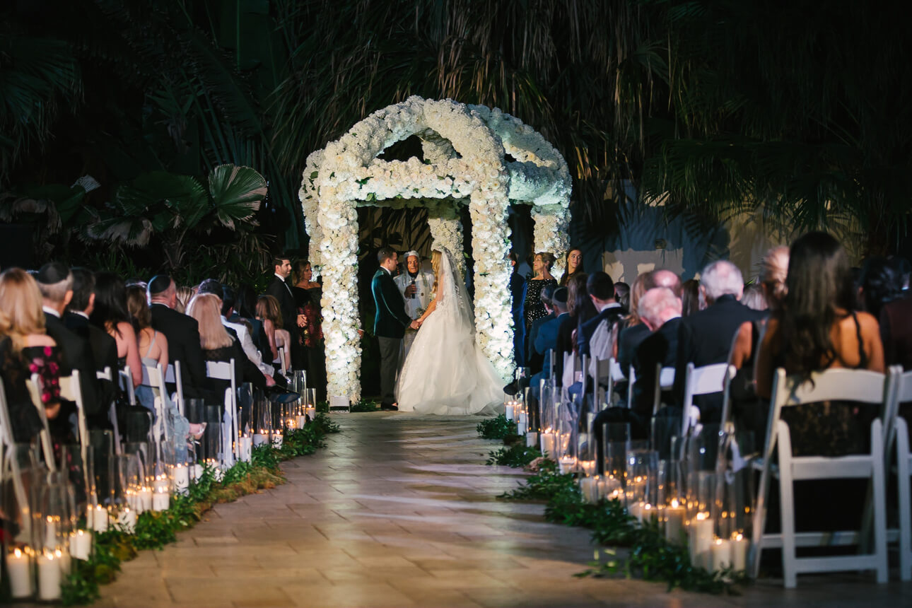 gorgeous Fisher Island Club Wedding ceremony
