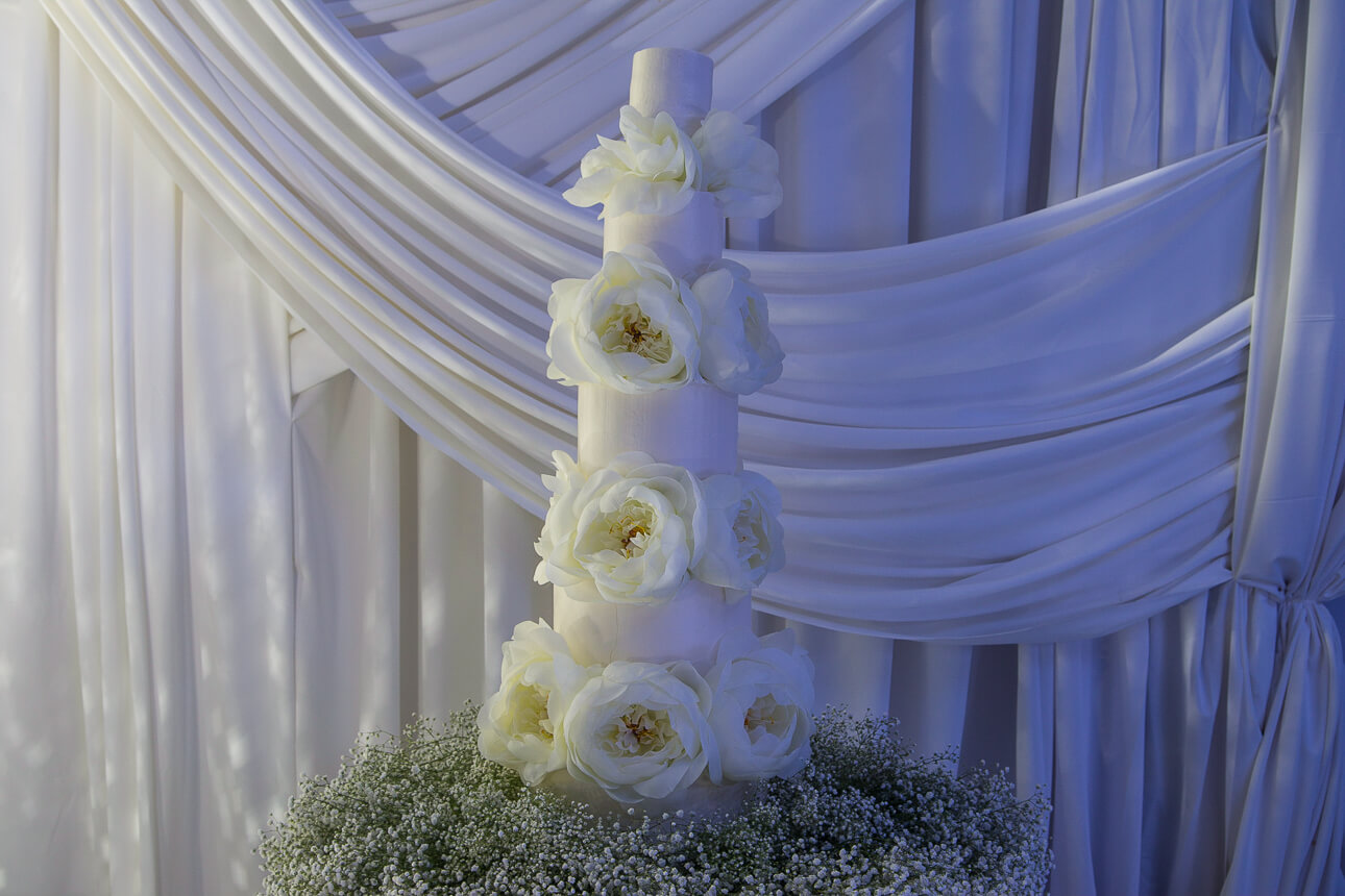 wedding cake at Fisher Island Club Wedding