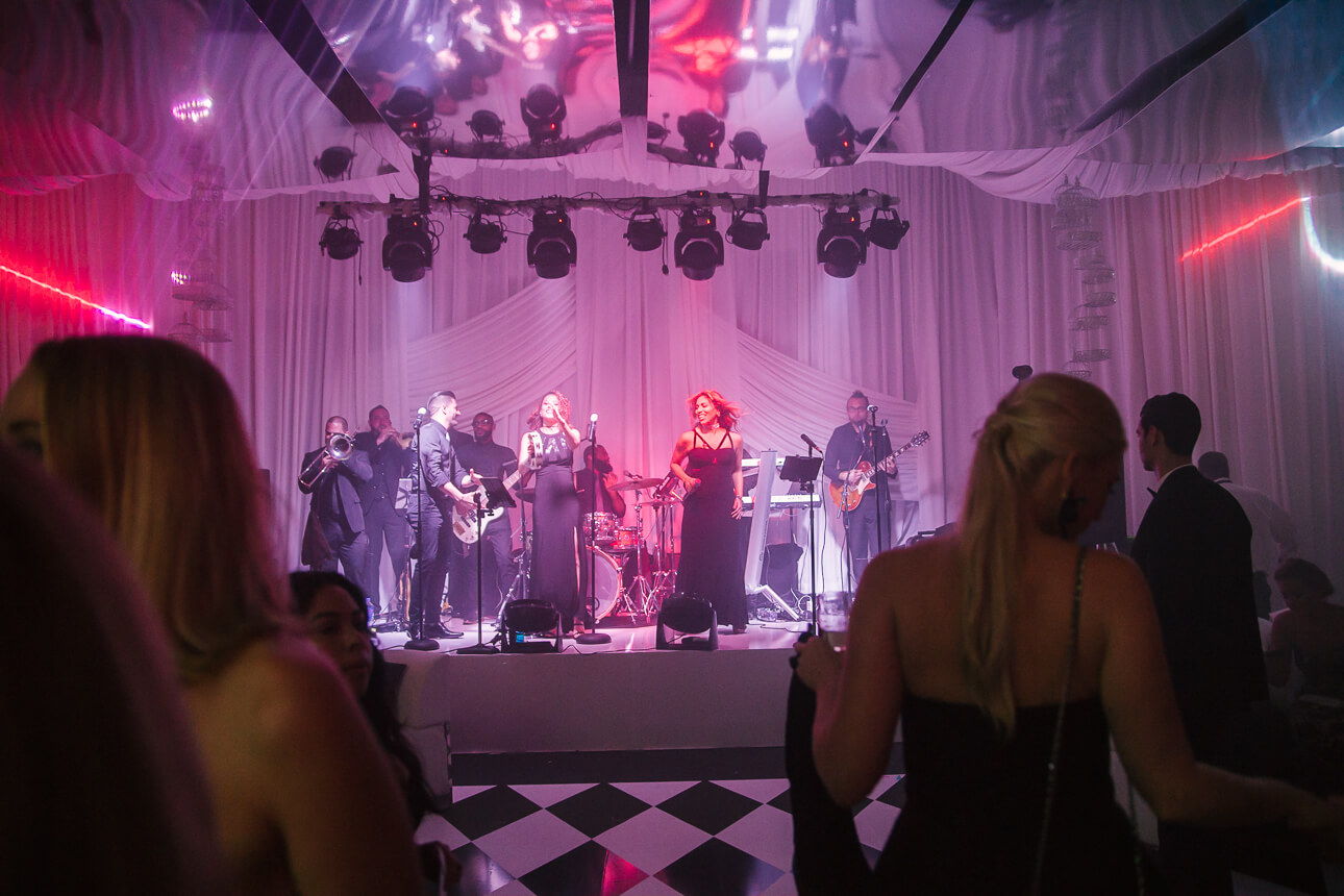 Flavour band for Fisher Island Club Wedding
