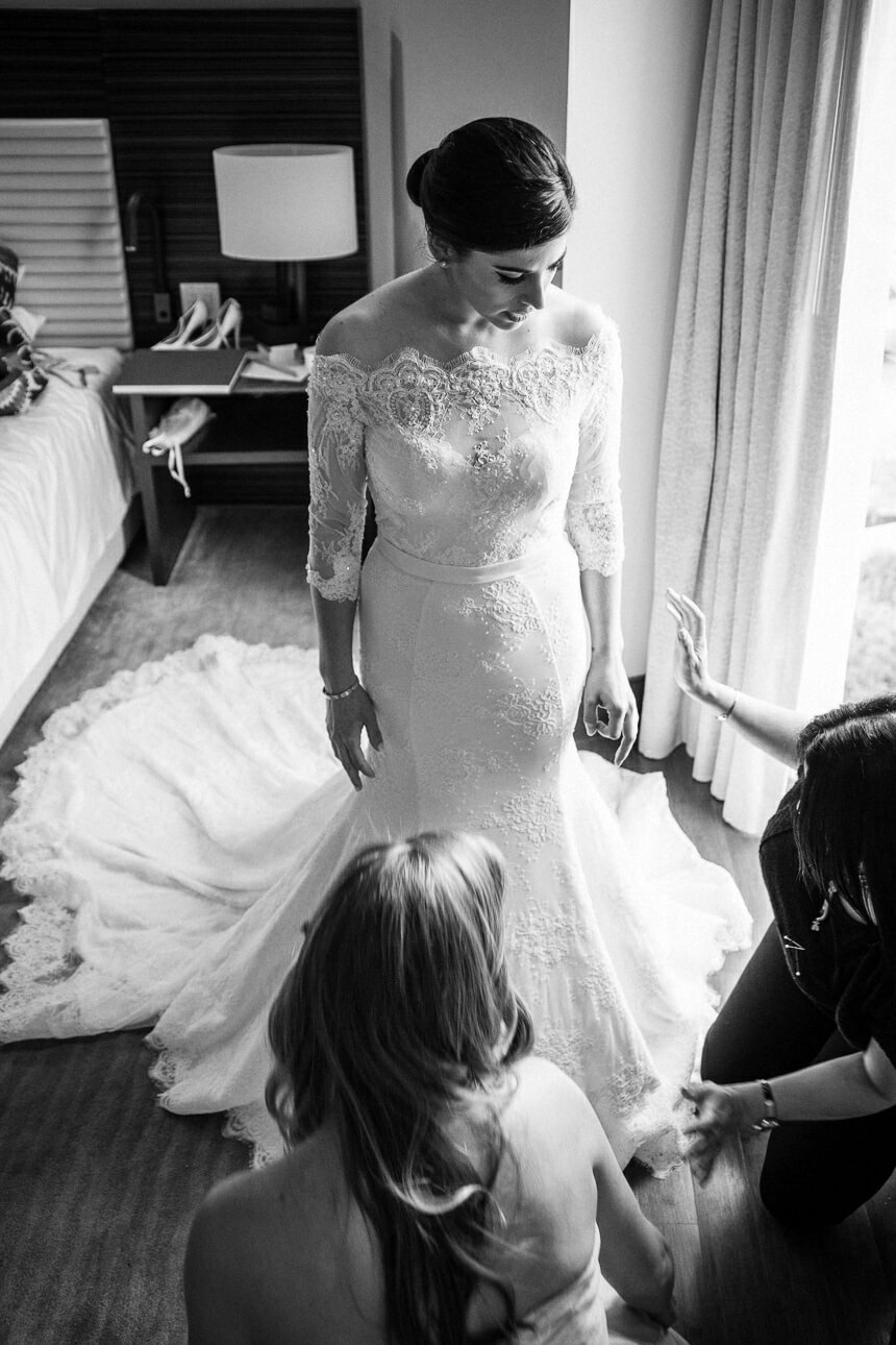bride at Mandarin Oriental Miami wedding