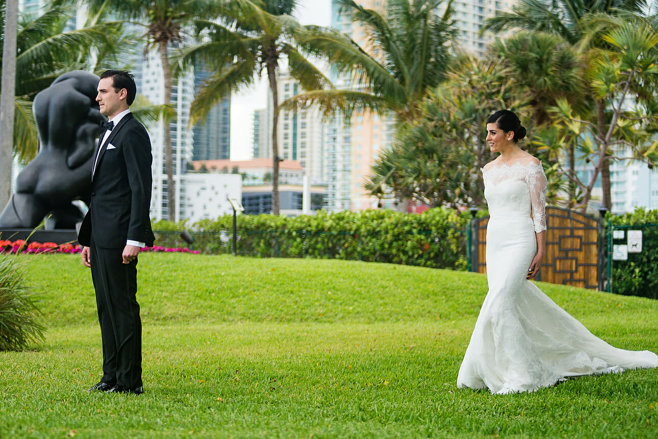 Mandarin Oriental Miami wedding first look