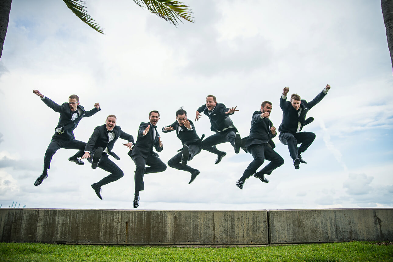 groomsman shot at Mandarin Oriental Miami wedding