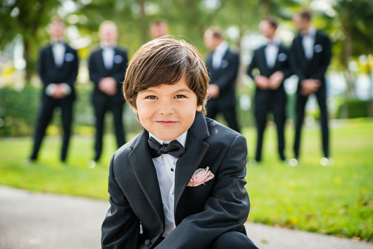 Mandarin Oriental Miami wedding ring bearer