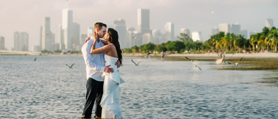 Tonya and Cale's Beach engagement pictures in Miami