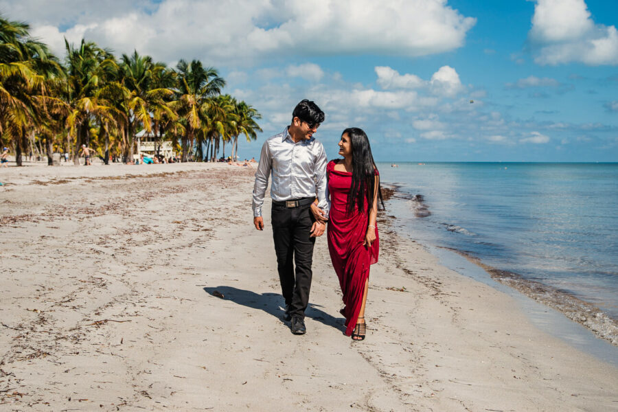Karishma and Abhijit's Save the Date Pre Wedding shoot in Miami